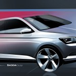 New Skoda Fabia Teaser Sketch