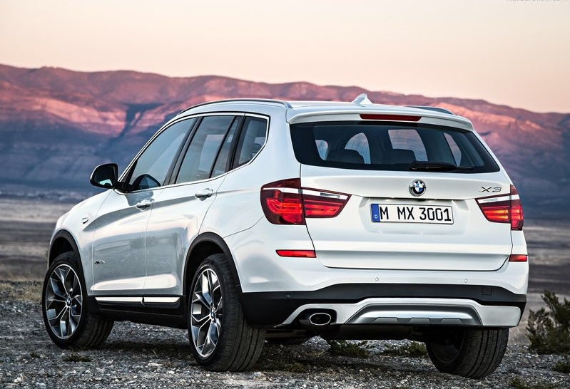 2014 BMW X3 rear profile