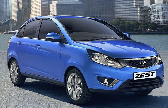 2014 Tata Zest side profile