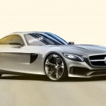 Mercedes AMG-GT preview in official sketches and rendered images