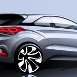 Hyundai teases the Hyundai i20 Coupe ahead of its debut next month