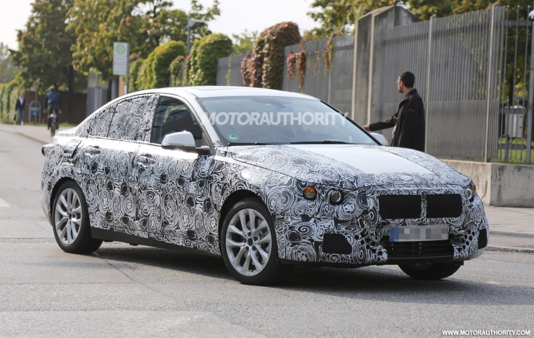 2017 BMW 1-Series sedan front spied