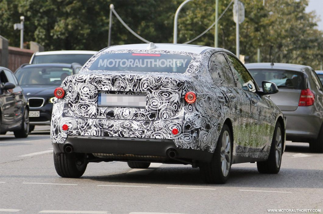 2017 BMW 1-Series sedan rear spied