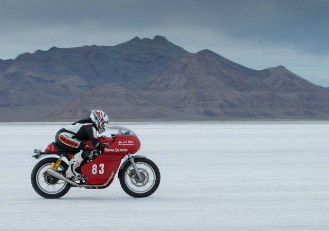 RE Continental GT rider