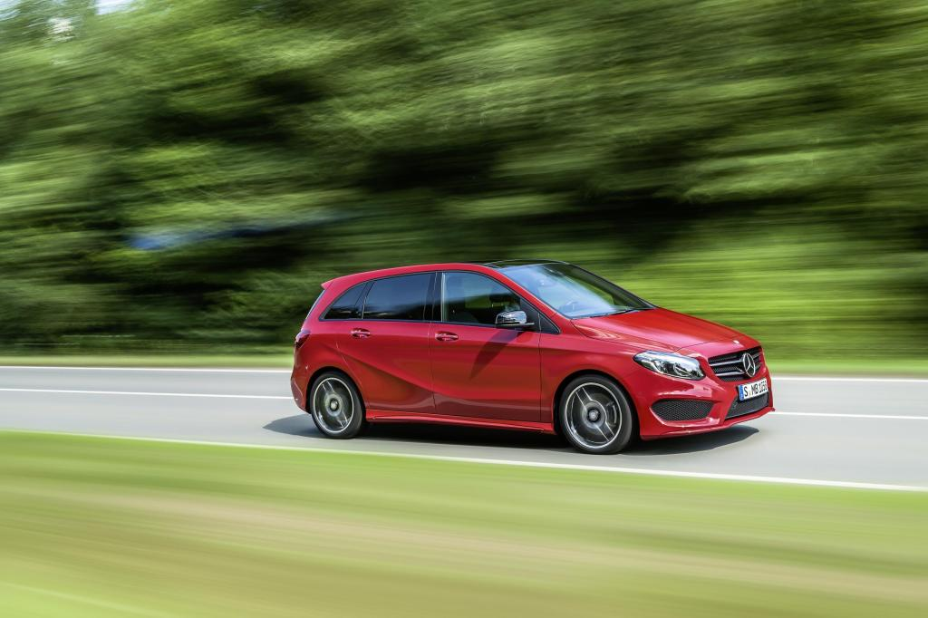New Mercedes B Class facelift front angle image