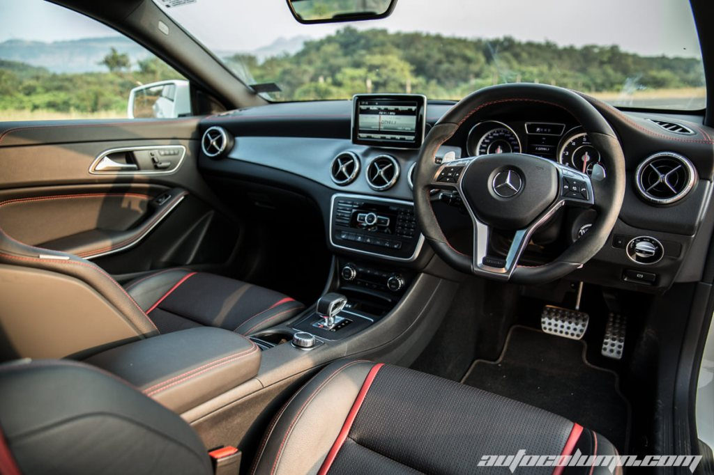Mercedes Benz CLA45 AMG driver side view
