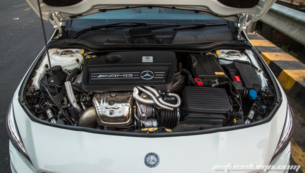 Mercedes Benz CLA45 AMG engine bay
