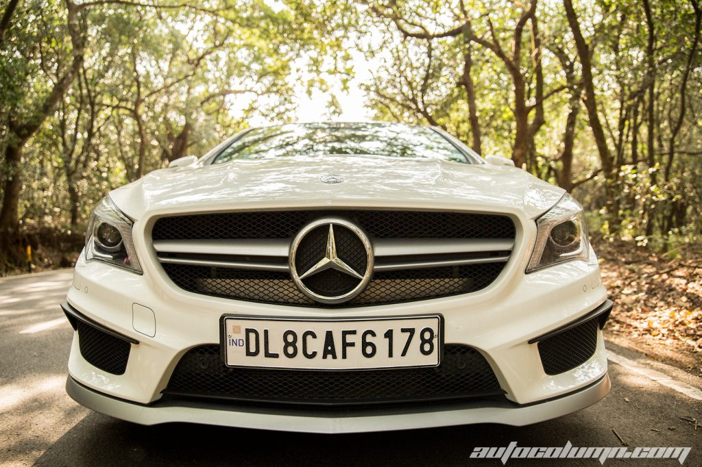 Mercedes Benz CLA45 AMG front view
