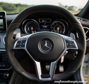 Mercedes Benz CLA45 AMG steering wheel
