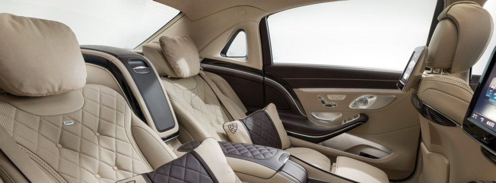 Mercedes C Class Maybach rear seats