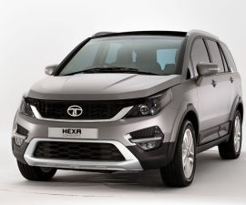 2016 Tata Hexa Crossover front three quarters