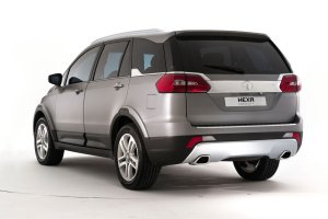 2016 Tata Hexa Crossover rear three quarters
