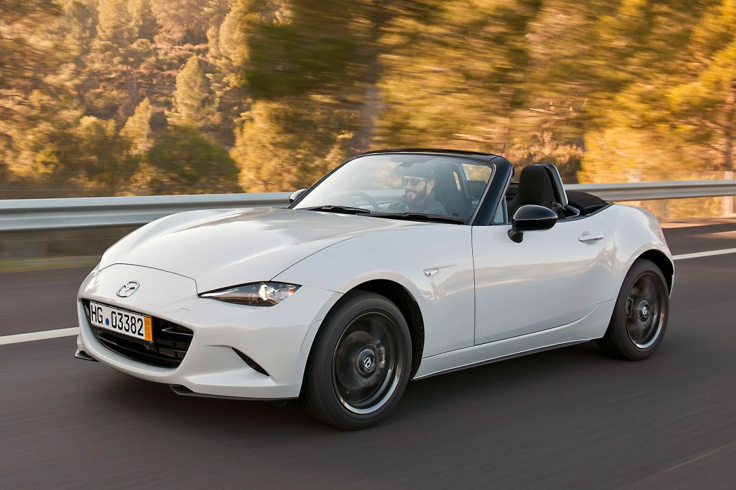 2016 Mazda Miata front three quarters on road