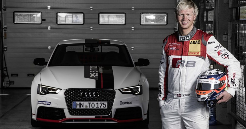 Audi Diesel record car with driver