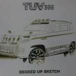 Mahindra makes prefatory sketches of TUV3OO public