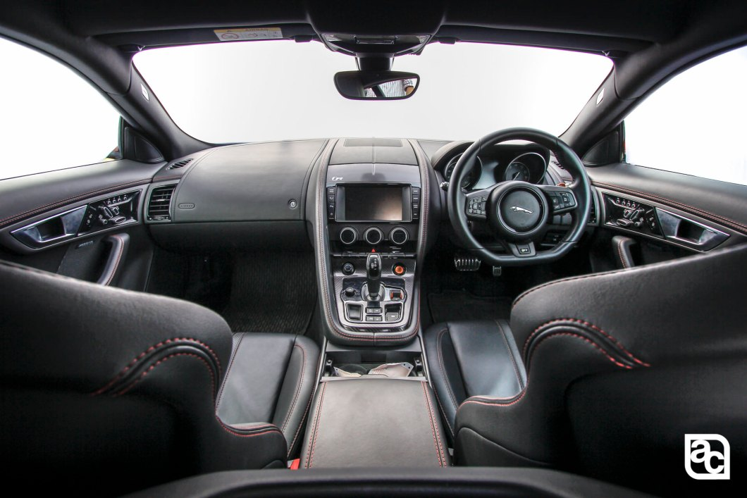 Jaguar F-Type R India dashboard