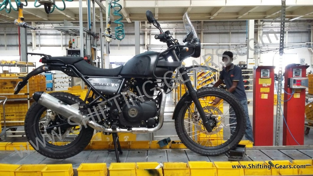 2015 Royal Enfield Himalayan on production line