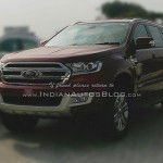 2016 Ford Endeavour seen at the dealership ahead of launch