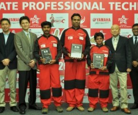 Winners of 2015 Yamaha National Technician Grand Prix