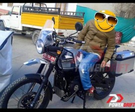 Royal Enfield Himalayan spied with accessories