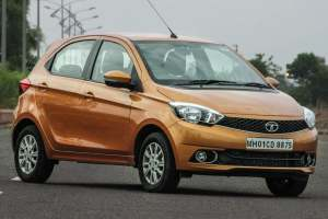 2016 Tata tiago front three quarters
