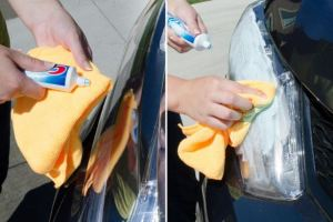 Headlight Buffing with Toothpaste