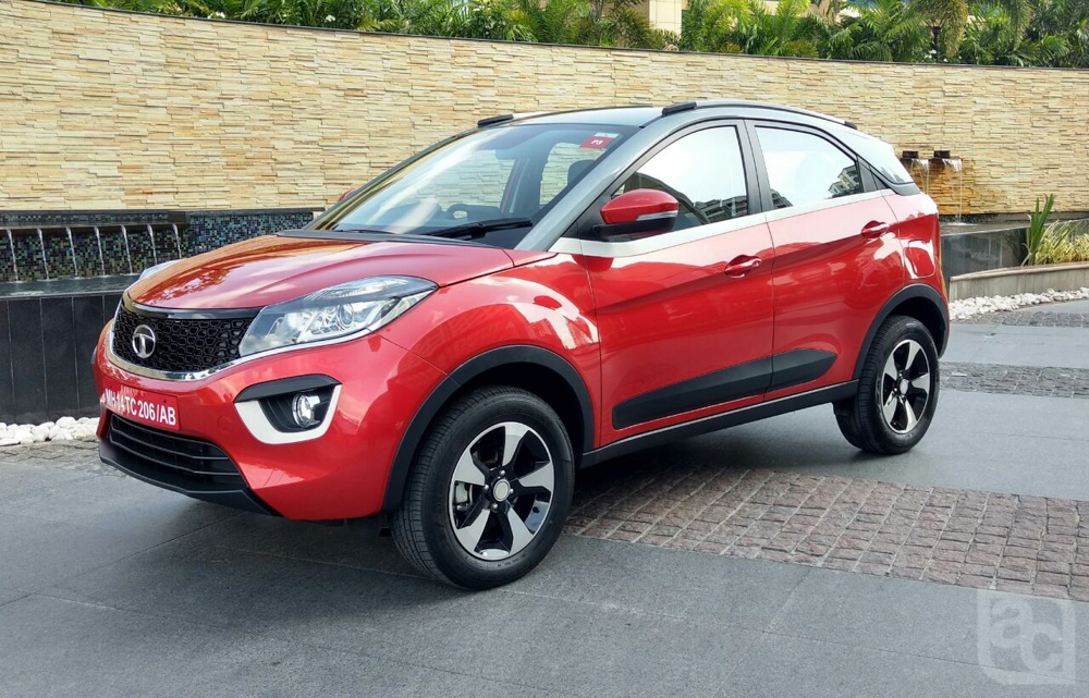 2017 Tata Nexon Red Production Version