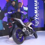 2018 Yamaha R3 sportsbike launched by John Abraham at the Auto Expo