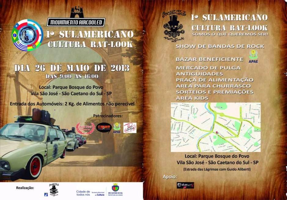 Sulamericano Cultura Rat Look - São Caetano do Sul - 1a edição 2013 - Convite