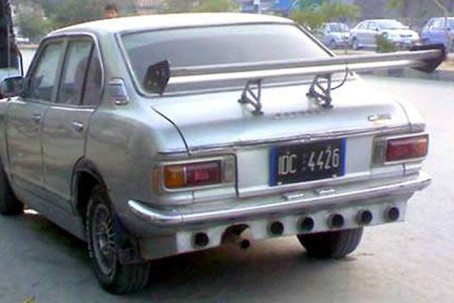 Old car tuning bizarre