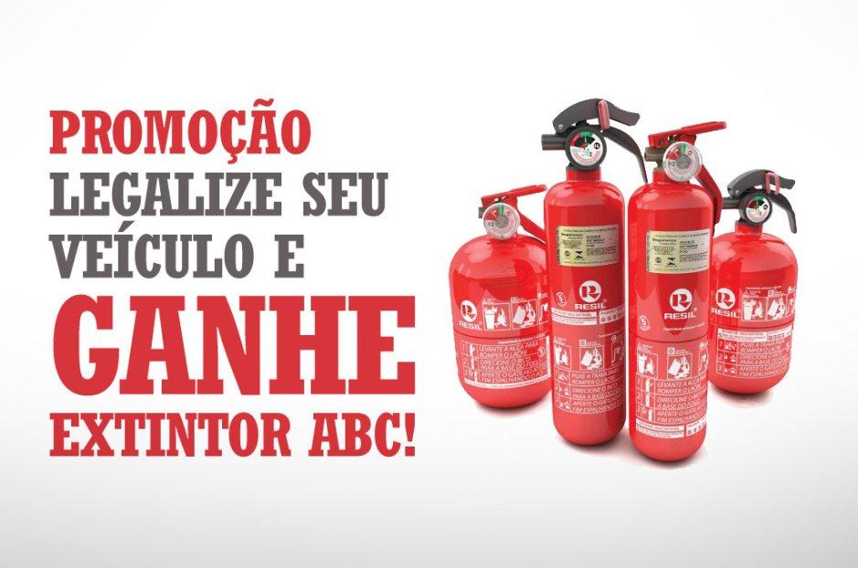 Promoção Legalize Seu Veículo e Ganhe um Extintor ABC