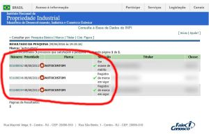 Registro do marca AutoCustom no INPI (órgão de marcas e patentes)