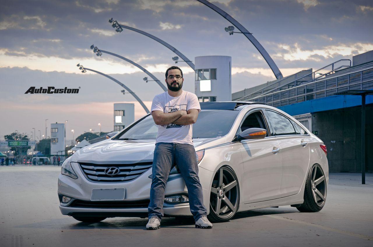 Sonata 2011 com aro 20x10,5 e suspensão a ar - Rafael Gomes
