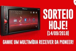 Sorteio no AutoZ amanhã (14/09/2018) Multimídia Receiver da Pioneer