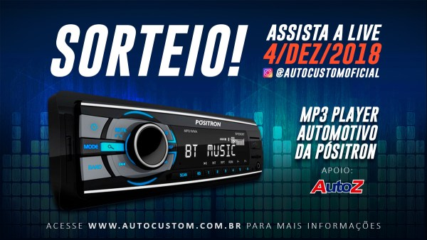 Sorteio MP3 Player Automotivo da Pósitron