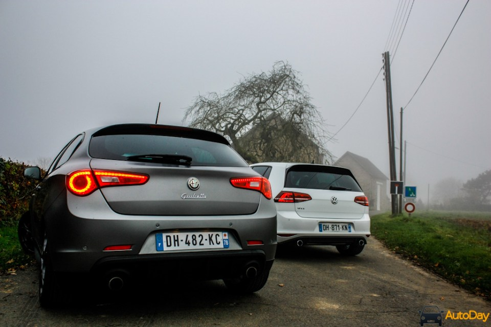 Comparatif VW Golf GTI Giulietta QV