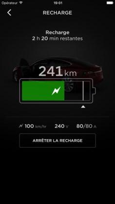 Application Tesla iOS