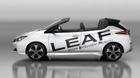 Nissan crée une version cabriolet de la nouvelle LEAF