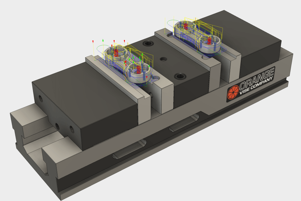 CNC toolpaths created in CAM for Fuison 360