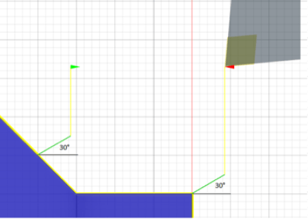 leads both 30 degrees from Z axis