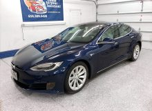 2018 Blue Tesla Model S 75D