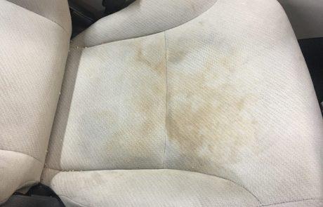 Dirty car seat