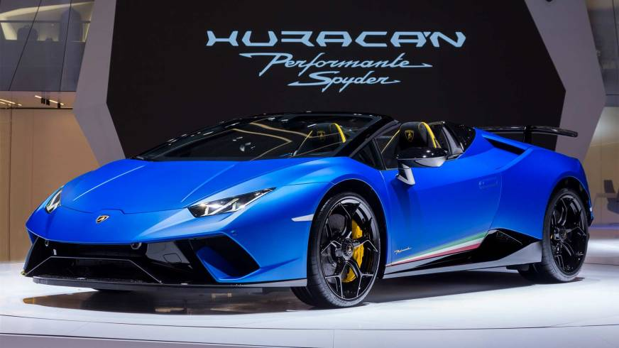 Lamborghini Huracan Performante Spyder drops top in Geneva ...