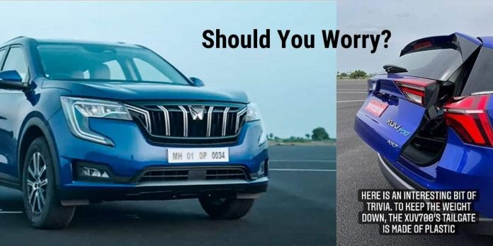 Should You Worry about the Plastic Tailgate at Mahindra XUV700?