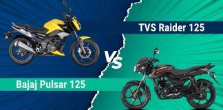 TVS Raider 125 vs Bajaj Pulsar 125