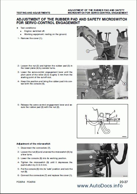 Komatsu Hydraulic Excavator Pc35r 8 Pc45r 8 Repair Manual