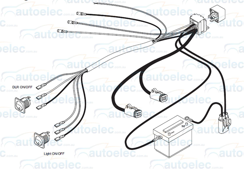 Pair Lightforce Venom 21 Led 75 Watt 150mm Driving Lights Lamps Wiring Harness
