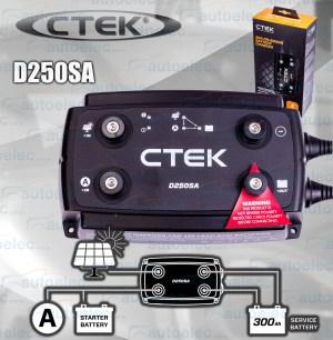 NEW CTEK D250SA DUAL DC TO DC SOLAR BATTERY CHARGER 12V AGM CAMPER CARAVAN 4WD
