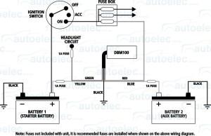 PROJECTA DUAL BATTERY SYSTEM MONITOR VOLT METER DBM100 12V & 24 VOLT 4X4
