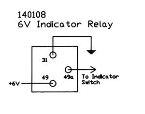 6V Electronic Flasher Relay